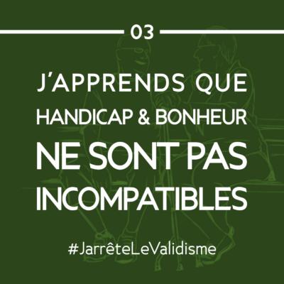 Bonne résolution n°3 : J'apprends que handicap et bonheur ne sont pas incompatibles !